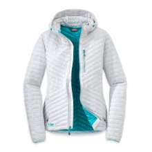 Women's Verismo Hooded Down Jacket by Outdoor Research in Nibley Ut