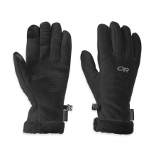 Women's Fuzzy Sensor Gloves by Outdoor Research in Ponderay Id