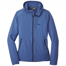 Women's Ferrosi Hooded Jacket by Outdoor Research in Red Deer Ab