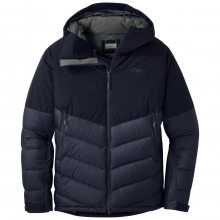 Men's Super Transcendent Down Hooded Jkt by Outdoor Research in Canmore Ab