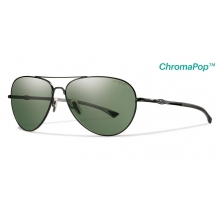 Audible Matte Black ChromaPop+  Polarized Gray Green by Smith Optics