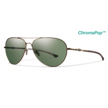 Audible Matte Gold ChromaPop+  Polarized Gray Green by Smith Optics