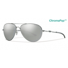 Audible Matte Silver ChromaPop+  Polarized Platinum by Smith Optics