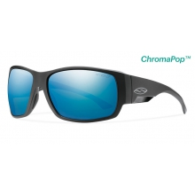 Dockside Matte Black ChromaPop+  Polarized Blue Mirror by Smith Optics