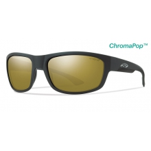 Dover Matte Black ChromaPop+  Polarized Bronze Mirror by Smith Optics in Golden Co
