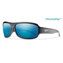 Drop Elite Matte Black ChromaPop +  Elite Polarized Blue Mirror by Smith Optics