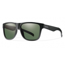 Lowdown XL Matte Black Polarized Gray Green by Smith Optics in Ponderay Id