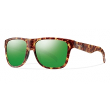 Lowdown XL Matte Yellow Tortoise Green Sol-X Mirror by Smith Optics