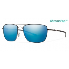 Nomad Dark Gray ChromaPop+  Polarized Blue Mirror by Smith Optics