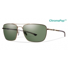 Nomad Matte Gold ChromaPop+  Polarized Gray Green by Smith Optics in Tulsa Ok