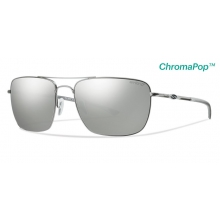 Nomad Matte Silver ChromaPop+  Polarized Platinum by Smith Optics