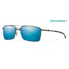 Outlier Ti Dark Gray ChromaPop+  Polarized Blue Mirror by Smith Optics