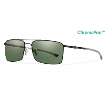 Outlier Ti Matte Black ChromaPop+  Polarized Gray Green by Smith Optics