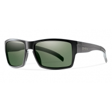 Outlier XL Matte Black Polarized Gray Green by Smith Optics in Ponderay Id