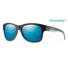 Wayward Matte Black ChromaPop+  Polarized Blue Mirror by Smith Optics