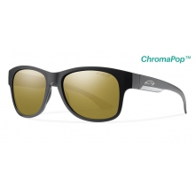 Wayward Matte Black ChromaPop+  Polarized Bronze Mirror by Smith Optics