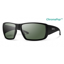 Guide's Choice Matte Black ChromaPop+  Polarized Gray Green by Smith Optics in Chino Ca