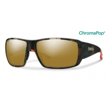 Guide's Choice Howler Matte Tortoise ChromaPop+  Polarized Bronze Mirror by Smith Optics