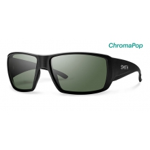 Guide's Choice Matte Black ChromaPop Polarized Gray Green by Smith Optics in Salmon Arm Bc