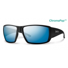 Guide's Choice Matte Black ChromaPop+  Polarized Blue Mirror by Smith Optics in Edwards Co