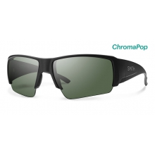 Captain's Choice Matte Black ChromaPop Polarized Gray Green by Smith Optics in Edwards Co