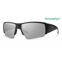 Captain's Choice Matte Black ChromaPop+  Polarized Platinum by Smith Optics in Bozeman Mt