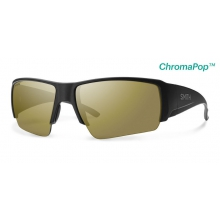 Captain's Choice Matte Black ChromaPop+  Polarized Bronze Mirror by Smith Optics