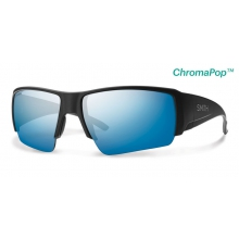 Captain's Choice Matte Black ChromaPop+  Polarized Blue Mirror