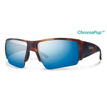Captain's Choice Matte Havana ChromaPop+  Polarized Blue Mirror by Smith Optics in Ponderay Id