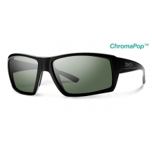 Challis Matte Black ChromaPop+  Polarized Gray Green by Smith Optics in Highland Park Il