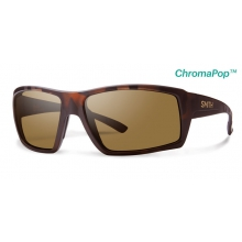 Challis Matte Tortoise ChromaPop+  Polarized Brown by Smith Optics in Sandy Ut
