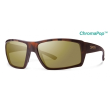 Challis Matte Tortoise ChromaPop+  Polarized Bronze Mirror by Smith Optics in Sandy Ut