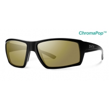 Challis Matte Black ChromaPop+  Polarized Bronze Mirror by Smith Optics