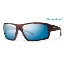 Challis Matte Tortoise ChromaPop+  Polarized Blue Mirror by Smith Optics in Medicine Hat Ab