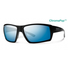 Challis Matte Black ChromaPop+  Polarized Blue Mirror by Smith Optics