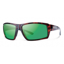 Challis Tortoise Techlite Polarized Green Mirror by Smith Optics
