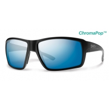 Colson Matte Black ChromaPop+  Polarized Blue Mirror by Smith Optics