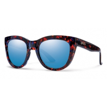 Sidney Flecked Blue Tortoise Blue Flash Mirror by Smith Optics in Ponderay Id