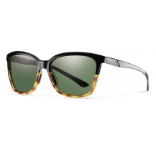 Colette Black Fade Tortoise Polarized Gray Green by Smith Optics in Ponderay Id