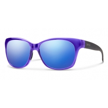 Feature Crystal Ultraviolet - Matte Black Blue Flash Mirror by Smith Optics in Charleston Sc