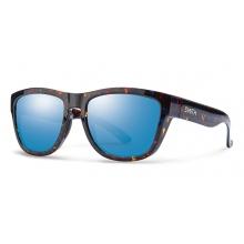 Clark Flecked Blue Tortoise Blue Flash Mirror by Smith Optics