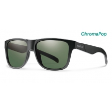 Lowdown XL Matte Black ChromaPop Polarized Gray Green by Smith Optics in Kelowna Bc