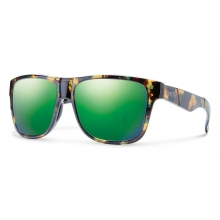 Lowdown XL Flecked Green Tortoise Green Sol-X Mirror by Smith Optics