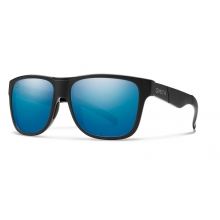 Lowdown XL Matte Black - Salty Crew ChromaPop Polarized Blue Mirror by Smith Optics in Fort Collins Co