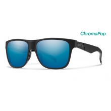 Lowdown Matte Black - Salty Crew ChromaPop Polarized Blue Mirror by Smith Optics in Edwards Co