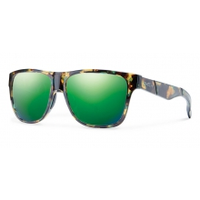 Lowdown Flecked Green Tortoise Green Sol-X Mirror by Smith Optics