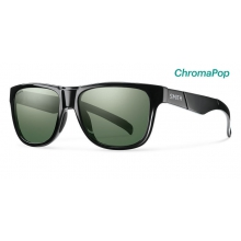 Lowdown Slim Black ChromaPop Polarized Gray Green by Smith Optics in Edwards Co