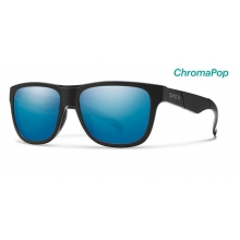 Lowdown Slim Matte Black - Salty Crew ChromaPop Polarized Blue Mirror by Smith Optics in Golden Co