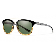 Clayton Black Fade Tortoise Polarized Gray Green by Smith Optics