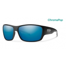 Frontman Matte Black ChromaPop Polarized Blue Mirror by Smith Optics